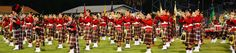 A panoramic shot of the famed Riverview High School Kiltie Band