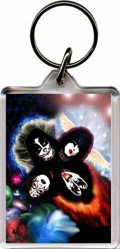 Kiss - Plastic Key Ring E