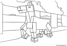 Print Minecraft Horse Coloring Pages