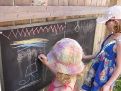 We have an outdoor chalkboard.
