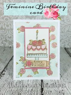 Courtney Lane Designs: Feminine Birthday Card