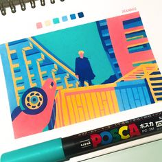 - I listened to the whole mixtape at least 10 times today. and even after a year 마지막 gets me every time :( - Tools: Posca pens, Mossery sketchbook - Marker Kunst, Posca Marker, Marker Art, Art And Illustration, Gouache Illustrations, Sketchbook Inspiration, Art Sketchbook, Pretty Art, Cute Art