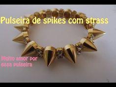 Pulseira de Spikes com Strass - YouTube