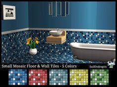 Mod The Sims - Small Mosaic Wall & Floor Tile Set