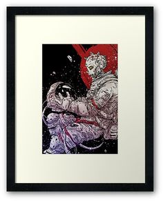 Cyberpunk astronaut is lost in space • Also buy this artwork on wall prints, apparel, stickers, and more.