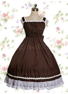 Dark Red Cotton Sweet Lolita Dress