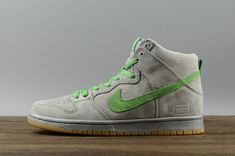 sports shoes ed561 097c8 2018 Purchase Nike SB Dunk High Silver Box Mens Skate Sneakers 313171-039 Metallic  Silver Hyper Verde-Gum Yellow Youth Big Boys Shoes