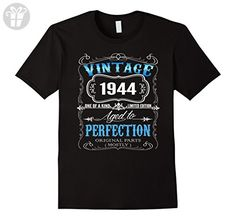 Mens Vintage born in 1944 tshirt 73 Years old birthday XL Black - Birthday shirts (*Amazon Partner-Link)