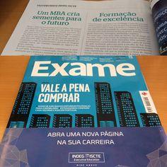 Já teve oportunidade de ler a edição de maio da Revista Exame ?  O INDEG-ISCTE partilha a experiência de dois antigos participantes do seu Executive MBA.   Se já leu o que achou? #ExecutiveMBA #press