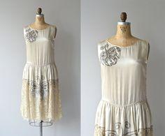 1920s luminous ivory silk dress