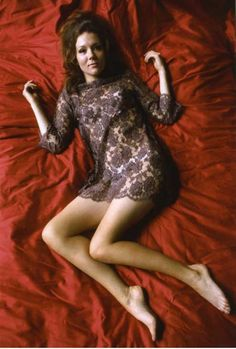Diana Rigg - The Avengers - TV show 1960s.  Dame Diana was beautiful, intelligent, talented, independent and free spirited.  She helped define what I found most appealing in a woman in my adult life.