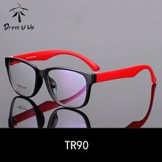 3c44b83f5b6a7 FuzWeb DRESSUUP Vintage TR90 Square Light Clear Frame Glasses For Women Men  Unisex High Quality