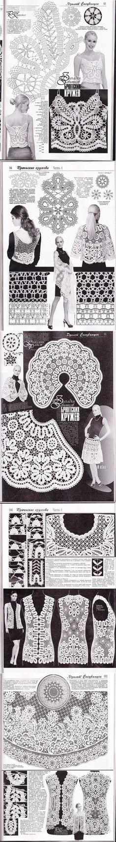 645 best Blusas y vestidos a crochet images on Pinterest ...