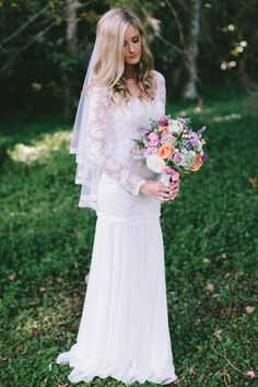 30 Of The Most Graceful and Gorgeous Lace Sleeve Wedding Dresses