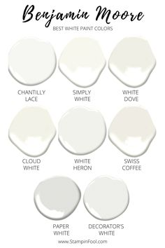 The Complete Step- by- Step Guide to Choosing White Paint + the Best Benjamin Moore White Paint Colors in 2020 Off White Paint Colors, Off White Paints, Best White Paint, Neutral Paint Colors, Wall Paint Colors, Paint Colors For Home, White Paint For Trim, Interior House Paint Colors, Coastal Paint Colors