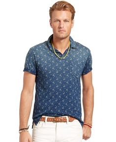 Polo Ralph Lauren Big and Tall Short Sleeve Anchor Mesh Polo