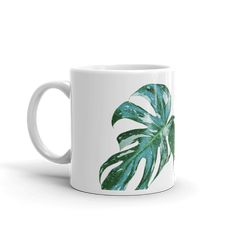Latte Mugs, Coffee Mugs, The Last Drop, Kitchenware, Tableware, Monstera Deliciosa, Travel Cup, Coffee Drinkers, Travel Size Products