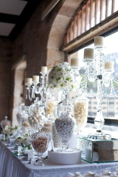 Candy Buffet at a Wedding Party #wedding #candy