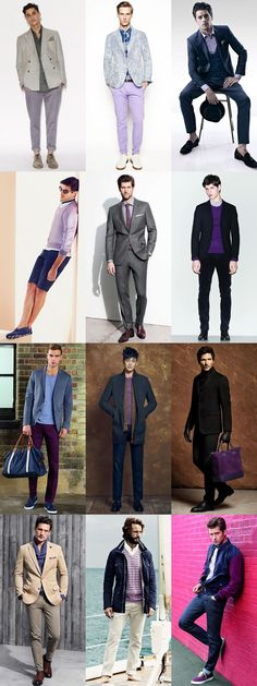 Men's 2014 Spring/Summer Key Colour Trend: Purple Lookbook Inspiration