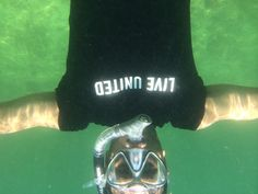 Jay sent us the only photo taken underwater in a LIVE UNITED t-shirt! 163 miles from the Town of Palm Beach United Way office in Big Pine Key, FL