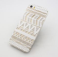 """Clear Plastic Case Cover for iPhone 6 (4.7"""") Henna Itzli Mayan Aztec tribal native american indian ethnic"""
