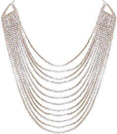 Holylove Women Alloy Big Leaf Statement Pendant Necklace Chunky Choker Collar