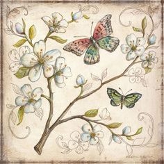 Le Jardin Butterfly III Wall Art