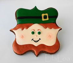 """Little Leprechaun Cookies (I ♥ the use of cookie cutters for things other than the """"intended"""" use.)"""