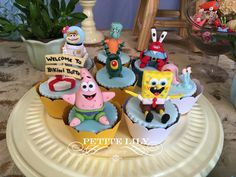 Sponge Bob cupcakes / Cupcakes em 3D de Bob Esponja