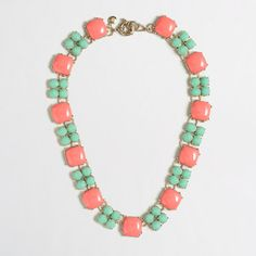 I love the colors and shape of this necklace. It makes a statement without being overwhelming!