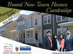 Exclusive Opportunity- Sign up Today! Brand New Town Homes, Cambridge, ON Location - Location -Location ✅ Very Close to Highway 401 ✅ Located next to Grand River ✅ Close proximity to Universities ✅ Parks, Trails & Schools ✅ LCBO, Walmart, COTSCO ✅ Cineplex & Restaurants ✅ Close Conestoga College ✅Approx 40 min. from Mississauga ✅ Reputed Builder ✅ Growing Region of Cambridge/Kitchner/Waterloo 💯 Invest in Phase 1 & Take benefit of the hot Real Estate market. Pre- Bookings Open Regi