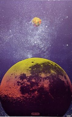 """Skot Foreman Gallery (vintage) Peter  Max """"Outer Space #9"""" 1967 Print Hand-signed screenprint    36 x 23 in  91 x 58 cm"""