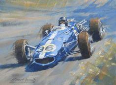 race car art Dan Gurney Eagle