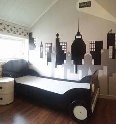 Diy skyline kidsroom