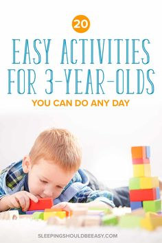 Looking for easy activities for three year olds? From crafts to outdoor discover everyday, fun things to do with your child. Perfect for toddlers and preschool children, many that can be done indoors at home. A must-read for all parents of little ones! 4 Year Old Activities, Indoor Activities For Toddlers, Fun Activities To Do, Educational Activities, Learning Activities, Preschool Activities, Outdoor Activities, Nanny Activities, Preschool Classroom