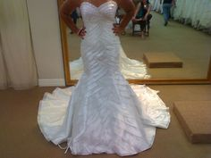 This plus measurement wedding ceremony gown has tiered layers by means of out all the robe.  It ...