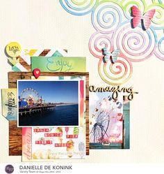 Amazing Scrapbook Page by @daniellekonink for @cliquekits  using their November Kit and 17turtles Digital Cut Files