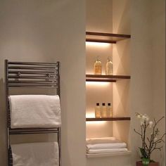 Integrated shelf lighting in baths and beyond