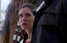 Princess Leia comes up against Darth Vader again in 'The Empire Strikes Back'.