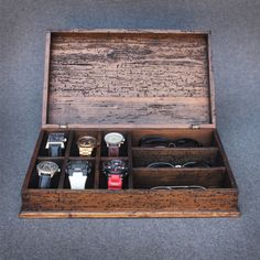 Los hombres rústico personalizado caja de por OurWeddingInvites