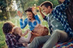 Photo of a family having fun royalty-free stock photo