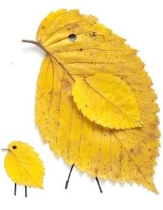 leaf crafts We love these sweet little leaf birds. Any color leaf will do! Fall Crafts For Kids, Craft Projects For Kids, Art For Kids, Leaf Projects, Art Projects, Land Art, Autumn Art, Autumn Leaves, Dry Leaf Art