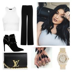"""""""Kylie Jenner inspired❤️"""" by breerex ❤ liked on Polyvore featuring Topshop, Diane Von Furstenberg, Valentino, Rolex, Louis Vuitton, women's clothing, women, female, woman and misses"""