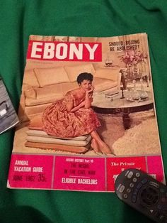 June 1962 issue of Ebony Magazine with Dorothy Dandridge on the cover.