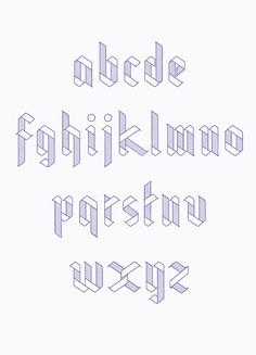 Ribbon Typeface by Julia Agisheva, via Behance... For a paper pieced alphabet quilt rather than appliqued!