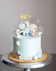 Boys Bday Cakes, Baby Birthday Cakes, Torta Baby Shower, Baby Shower Cakes For Boys, Boys 1st Birthday Party Ideas, 1st Boy Birthday, Baby Elephant Cake, Cake Models, Cake Business