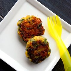 Spinach Rice and Corn Patties -