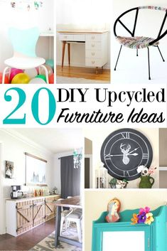 20 DIY Upcycled Furniture Ideas, How to Upcycle Furniture, Upcycled Furniture Ideas, DIY Furniture, How to Restore Furniture, Repurpose Old Furniture