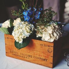 Beautiful and rustic center pieces