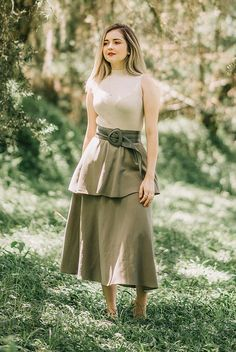 Korean Fashion Dress, Modest Fashion, Fashion Outfits, Skirt And Top Dress, Casual Frocks, Long Skirt Outfits, Fancy Dress Design, Frock For Women, Stylish Dresses For Girls